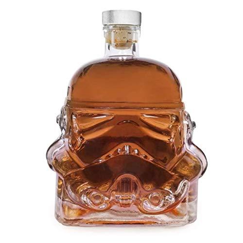 LCZ Decanter Jarrafes, Botella de Whisky Creativa Transparente, con Dos Copas de Vino, para Bares caseros.
