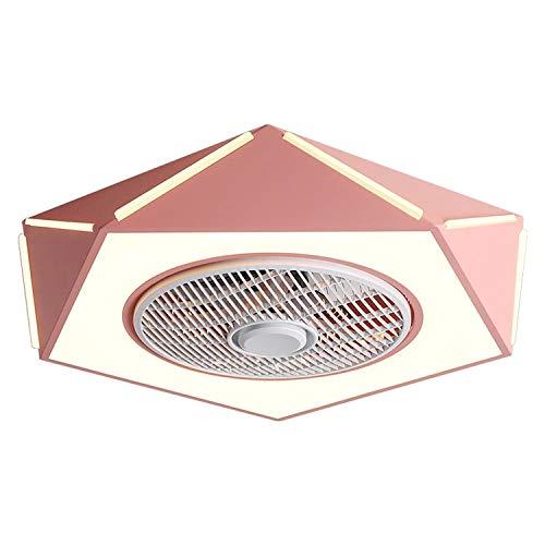 Luz de techo con control remoto de ventilador LED 3 temperaturas de color, velocidad de viento de 3 engranajes Ventilador invisible Luz de ventilador de bajo perfil de bajo perfil, para sala de estar