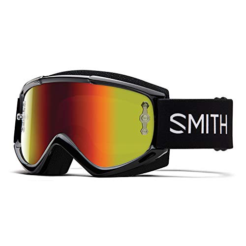 SMITH Unisex's FUEL V.1 MAX M Mountain Bike Goggles, Black-Red Mirror, One Size