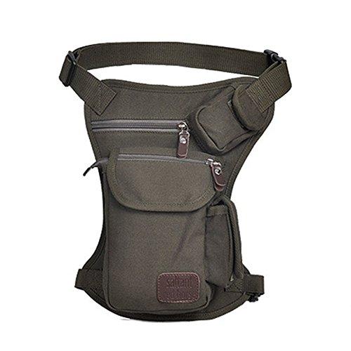 LZDseller01 - Bolsa de lona para pierna de senderismo o senderismo, para exteriores, muslo, muslo, bolsa de viaje, bolsa de viaje, bolsa de deporte, mochila de viaje, mochila de viaje para moterbike ciclismo y camping, No nulo, gris
