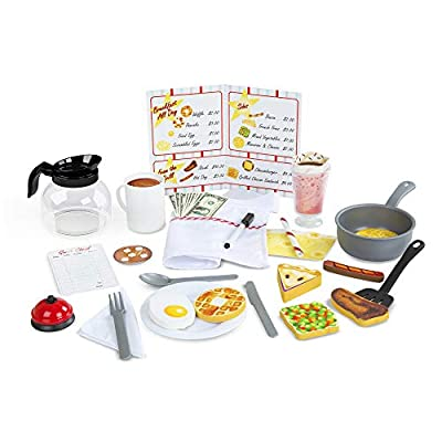 Melissa & Doug Star Diner Restaurant Play Set (Toy Diner Set, Play Kitchen, 41 Pieces, Great Gift for Girls and Boys - Best for 3, 4, 5 Year Olds and Up)