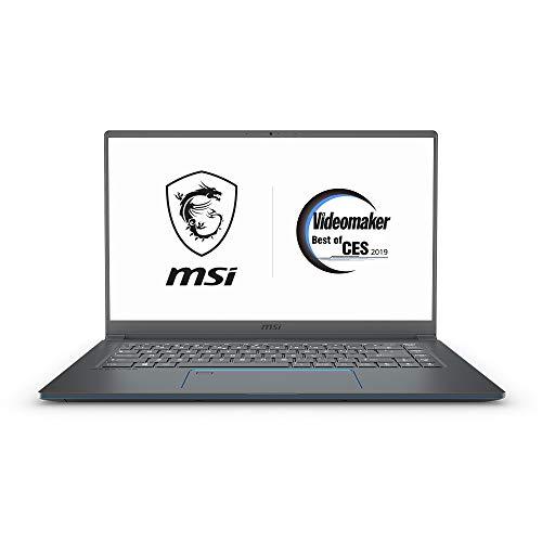 "MSI PS63 Modern-091 15.6"" Ultra Portable Creative Laptop, Intel Core i7-8565U, GTX 1050Ti, 16GB, 1TB SSD, Win10P, White Backlit KB, Silky Glass Touchpad + Fingerprint Reader, Grey w/ Blue Diamond Cut"