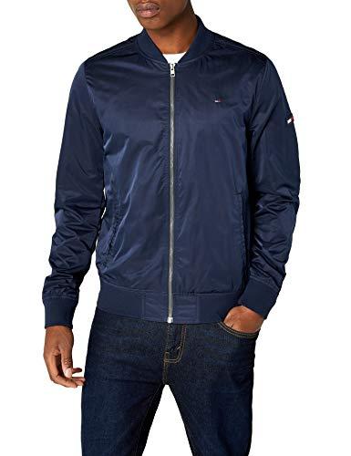 Tommy Jeans Herren Essential Straight Bomber Langarm Jacke Blau (Black Iris 002) Medium