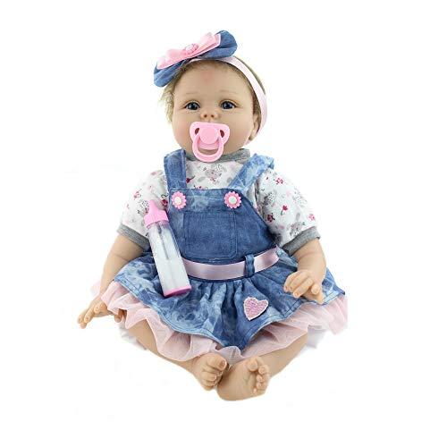 """22"""" Reborn Baby Dolls 55cm Reborn Lifelike Muñecas Bebé Recién Nacido Regalo de Juguete Muñecos Bebé"""