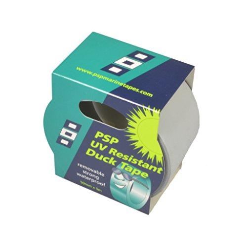 PSP TAPES Sicherheitsgurtzeug Ducktape 50 mm x 5m Hellgrau UV-beständig, 56121