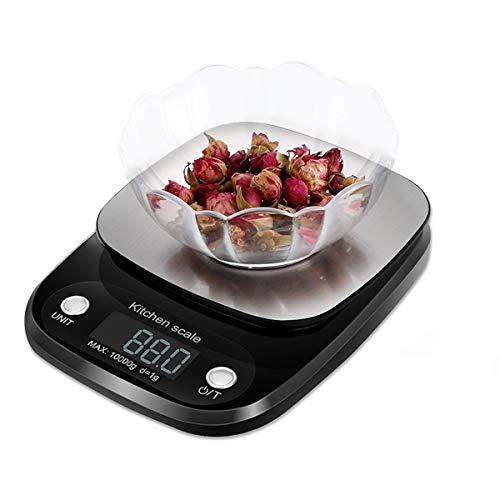 Báscula Digital de Alimentos, Báscula de Cocina Digital Multifunción, Pantalla LCD y Diseño de…