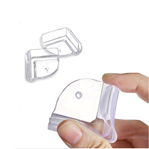 Pixnor Pare-chocs de Table coin bureau coussin bébé enfant sécurité garde protecteur souple anti-crash sécurité Pack de 4
