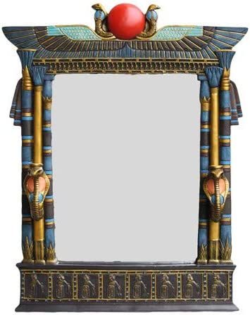 Pacific Trading Ranking Luxury goods integrated 1st place Large Egyptian Beautiful Plaque Wall Mirror Made
