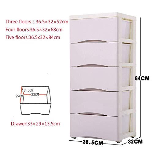 Lade Type Storage Box, Locker Plastic Multi-Layer grote capaciteit vele kleuren for Bedroom-Pure blue-3floor Mooie en praktische cosmetische opbergdoos. (Color : Pure khaki, Size : 5Floor)