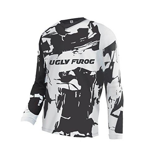 BurningBikewears Uglyfrog Downhill Jersey Manga Larga De Descenso Bicicleta De Verano Montañal Maillots Deportes y Aire Libre