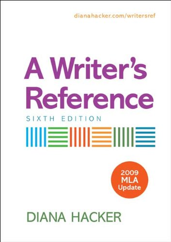 A Writer's Reference with 2009 MLA Update