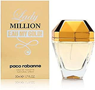 Lady Million Eau My Gold by Paco Rabanne for Women - Eau de Toilette, 50ml