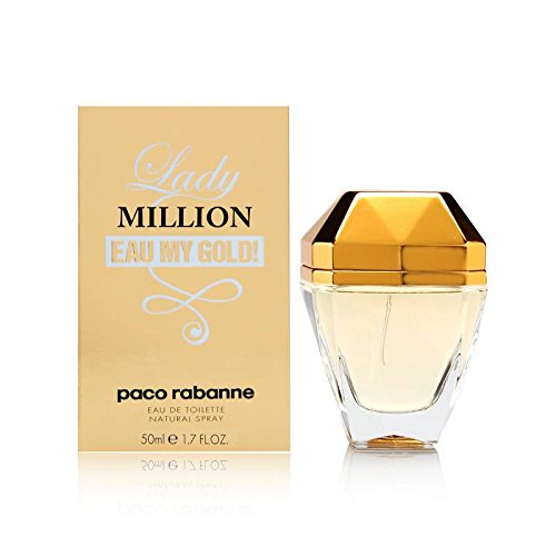 Paco Rabanne, Lady Million Eau My Gold Eau de Toilette, Donna, 50 ml