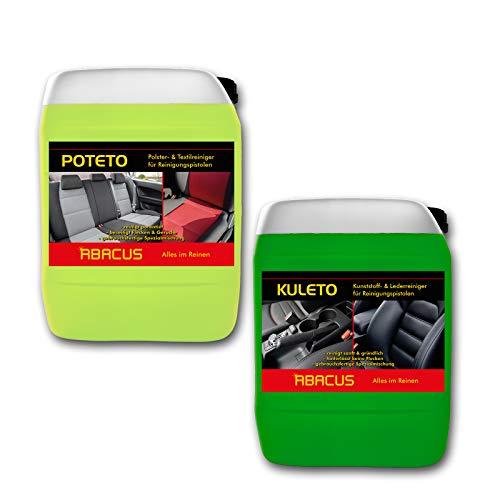 ABACUS Tornador Black Reiniger Nachfüll-Set (7428) - 1x 5 Liter KULETO + 1x 5 Liter POTETO - gebrauchsfertige Reiniger für Polster, Textil, Kunststoff & Leder