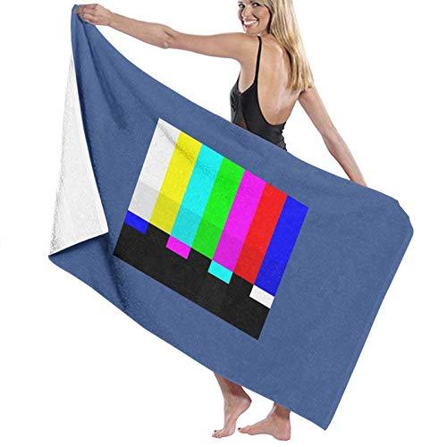 U/K Tv Color Prueba Barras Toalla de Baño Secado Rápido Toalla