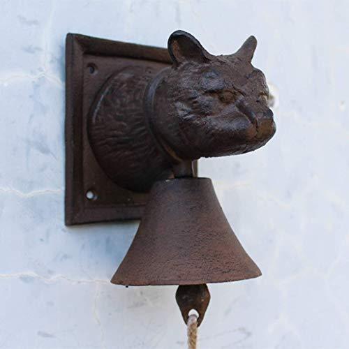 WEHOLY Türklingel Vorderglocke Vintage Gusseisen Katzenkopf Stil Türklingel Antik Eisen Wand Anhänger Cafe Hand Türklingel