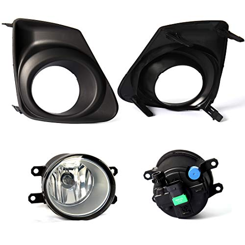 For Toyota Corolla Altis 2011 2012 2013 Fog Light 2 Pcs Replacement Corolla Front Bumper Driving Fog Lamps Bulb + Switch + Wiring Kit