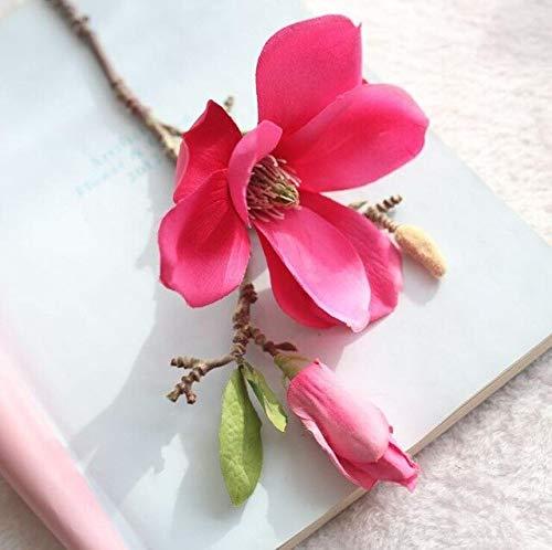 GANHUA 3 STKS Kunstbloem Magnolia voor Bruiloft Feest Home Decoratie Zijde Bloemen Tak voor Home Decor Nep Bloem Roos
