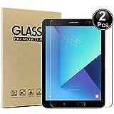 Domxteck (Paquete de 2 Protector de Pantalla para Samsung Galaxy Tab S3 9.7, [Resistencia al Rayado] 9H Dureza 2.5D Borde Redondo Protector de Pantalla de película de Vidrio Templado de Borde