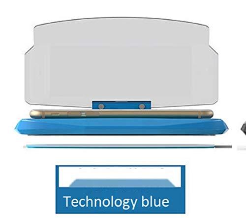 LJHLJH 2019 Coche HUD Navigation versión Antideslizante Soporte del teléfono móvil de la Pantalla de la Cabeza de adsorción Plegable Multifuncional,Blue