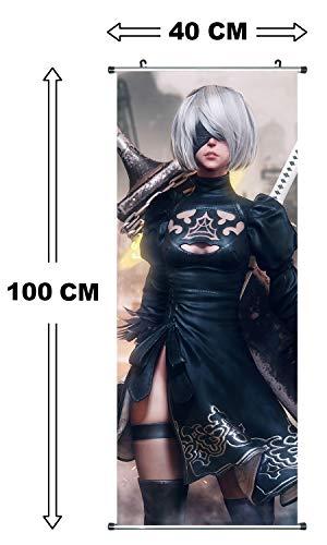 CoolChange NieR Automata Rollbild I Kakemono aus Stoff I Poster 100x40cm I Motiv: Yorha No.2 Type B