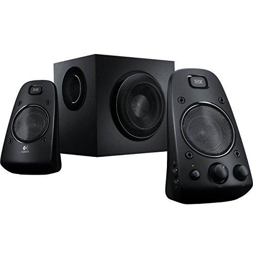Logitech 980-000402-cr Z623 400 Watt Home Speaker System, 2.1 Speaker System (Renewed), One Size, Black
