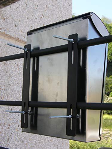 Arregui C-015 Befestigungskit für Briefkästen an Zäunen oder Toren, Schwarz