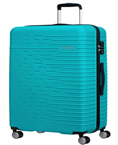 American Tourister Trolley Cabin 4 Wheels Hyperdash, Turquoise (Turquoise) - Hyperdash