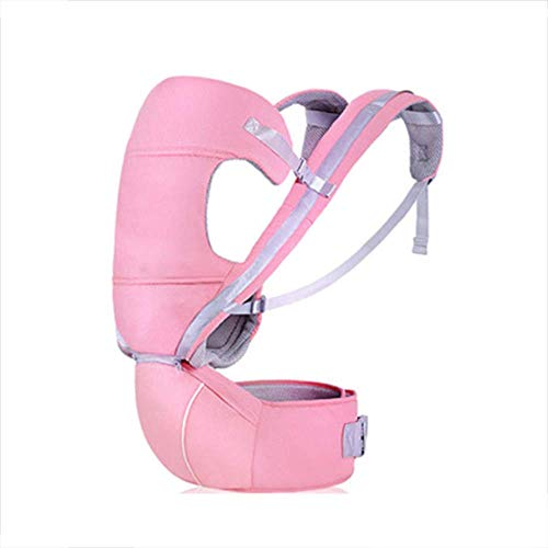 LXQ Baby Carrier Hip Seat Sling by Best Safe Backpack Carriers Back Pain Support,Pink