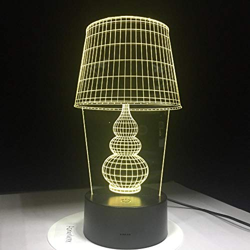 USB LED nachtlampje 3D LED bureaulamp met touch-knop 3D lamp als Home Art Work Decoration 5V lamp voor Laptop Power