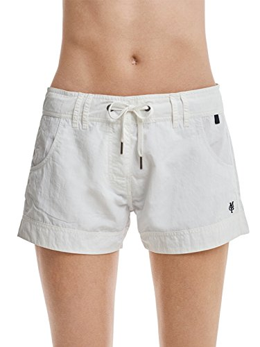 Marc O'Polo Body & Beach Damen SHORTS SHORTS Beach W-BEACH-SHORTS, Weiß (Off-White 102), 40 (Herstellergröße L)