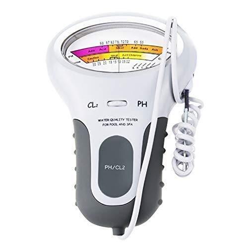 YAJIWU Medidor de pH Acidómetro Ph & Cloro Cl2 Medidor de nivel Probador de Prueba Monitor de Prueba de Piscina Spa Monitor de Agua Análisis de Calidad
