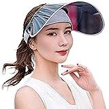 Cappello da uomo e donna con visiera parasole a tesa larga, anti-UV, protezione solare, regolabile, per estate, viaggi, spiaggia, escursionismo, campeggio, pesca, ciclismo, corsa, trekking, Grigio