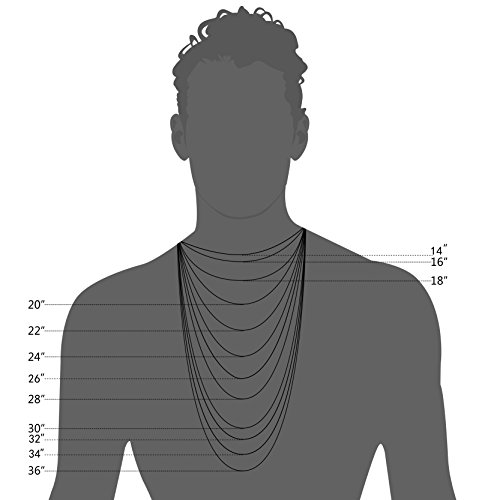 FIBO STEEL 6MM Curb Chain Necklace for Men Stainless Steel Biker Punk Style, 24 inches