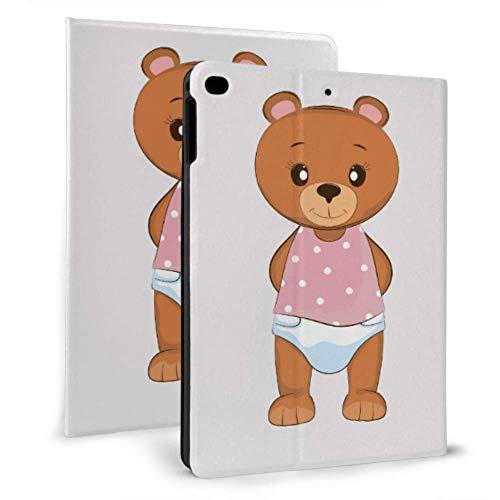 Ipad Cover Cute Innocent Bear Wild Animal Colorful Ipad Cover For Ipad Mini 4/mini 5/2018 6th/2017 5th/air/air 2 With Auto Wake/sleep Magnetic Ipad Case
