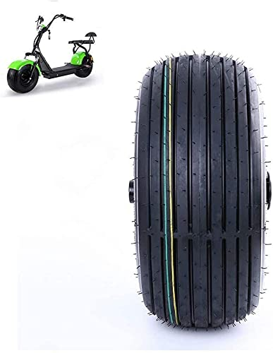 Neumáticos de scooter eléctrico, neumáticos de vacío 18X9.50-8, antideslizantes ensanchados y resistentes al desgaste, adecuados para accesorios de neumáticos de locomotoras de vehículos eléctricos, f