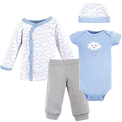 Luvable Friends Unisex Baby Cotton Preemie Layette Set, Boy Cloud, Preemie