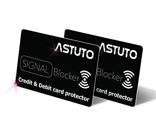 Protector de Tarjetas de crédito contactless - RFID/NFC Card Protector - Card Blocker - Tarjeta de Bloqueo de escáner y lectores de Tarjetas (2 Unidades Pack)