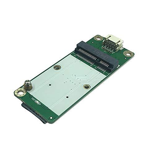EXVIST 4G LTE Industrial Mini PCIe a USB Adaptador USB (4PIN PH2.0) Conector W/tarjeta SIM ranura para módulo WWAN/LTE 3G/4G adecuado para aplicaciones M2M e IoT como Raspberry Pi Router IP Camera
