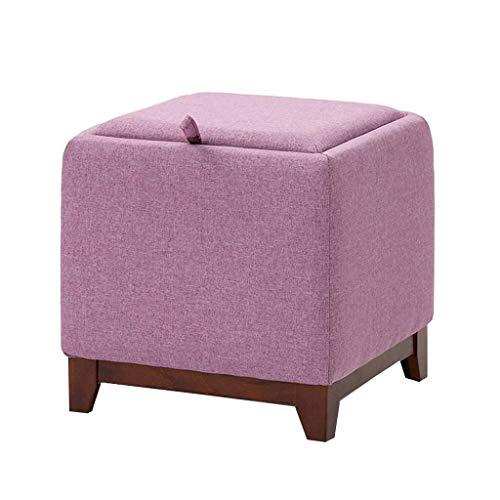 Poufs et repose-pieds Tabouret multifonctionnel de tabouret de tabouret de tabouret de stockage de tabouret de stockage cinq couleur (Couleur : Purple)