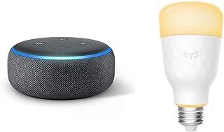 Echo Dot 第3世代 - スマートスピーカー with Alexa、チャコール + Yeelight (イーライト) スマートLEDライト (調光機能付き)