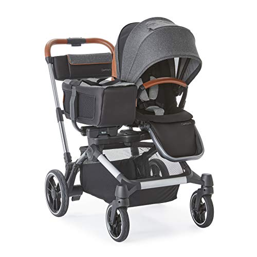 Contours Element Side-by-Side Single-to-Double Stroller, Storm Grey