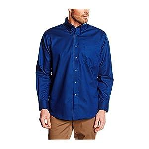 44//45, Bordeaux MEDIA WAVE store Camicia da Uomo Modello Alex Regular Fit in Cotone Colletto Classico Vari Colori