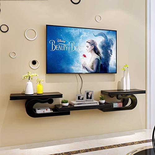 Plataforma flotante estante de la pared flotantes Montada Consola for TV de bases de estantería gabinete Estantería for consola de juegos por cable Caja Routers mandos a distancia de DVD jugadores de