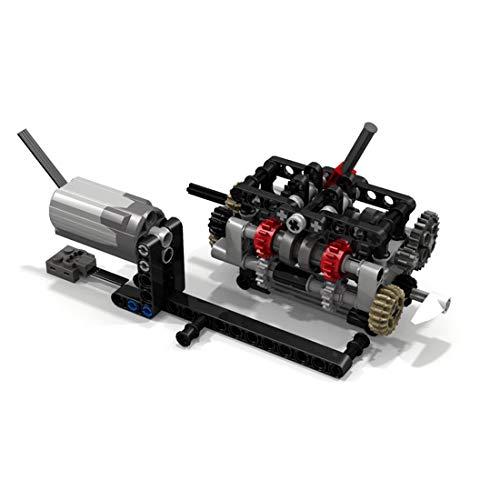 TETAKE Power Funktions M-Motor Konstruktionsspielzeug mit 6-Gang-Getriebe, DIY Engine mit 113 Teile Kompatibel mit Anderen Bausteine Marken