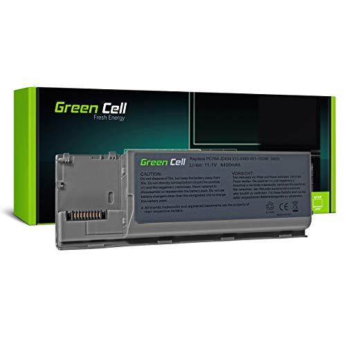 Green Cell Batería para DELL Latitude D620 ATG Burner Essential Plus D630 UMA XFR D630c D630N D631 D631N D63c D830N PP18L PP24L Precision M2300 Portátil (4400mAh 11.1V Plateado)