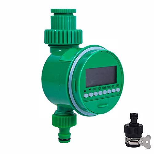 Timer Automatico per l acqua,Irrigazione Timer, Timer Digitale per Display LCD,Timer di Irrigazione Automatico per Giardino,Giardino Timer Irrigazione Automatico con LCD Display(Verde)