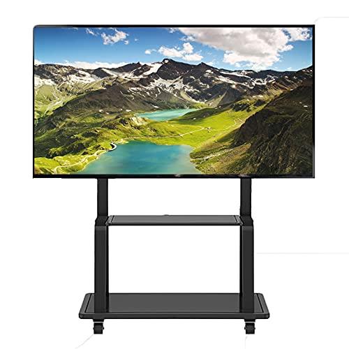 Supporto TV da pavimento Carrello TV Home Display Soporte TV rodante Trolly, Carro TV Altura Ajustable para televisores LCD LED 32/42/45/50/55/60/65/70/75 Pulgadas, Capacidad Carga 150 kg/330,7 LB