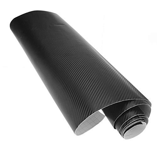 1 x 60cm x 2m Autofolie 3D Carbon Klebe Folie Luftkanaltechnik dehnbar Aufkleber