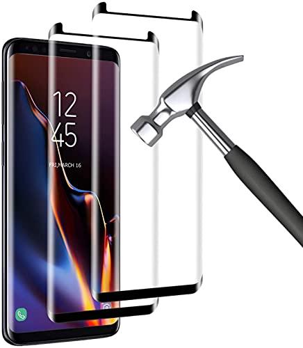 Film Protection Ecran Verre Trempé pour Galaxy S8 Plus, [2 Pièces] [Full Coverage] [Ultra Claire] [Dureté 9H] Film Protecteur en Verre trempé de Haute qualité pour Samsung Galaxy S8 Plus